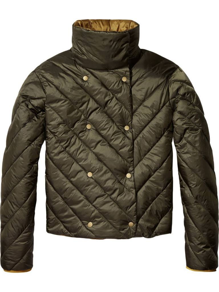 Maison Scotch Maison Scotch Double-breasted quilted jacket