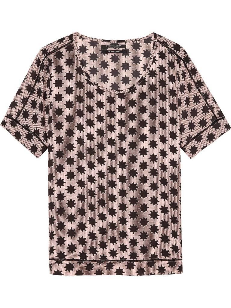 Maison Scotch Maison Scotch Silky blouse with stripes
