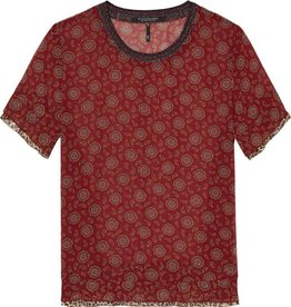 Maison Scotch Sheer printed top
