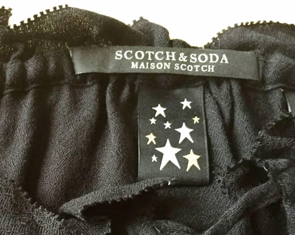 Maison Scotch Maison Scotch Haut à manches longues avec col à volants