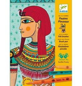 Djeco Feutres pinceaux / Art égyptien