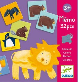 Djeco Color Animals Memo