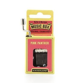 Kikkerland Crankhand musical box Pink panther