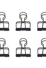 Kikkerland OR73-BK Wire clips s/6 Black