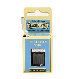 Kikkerland Boîte à musique à manivelle Ice cream