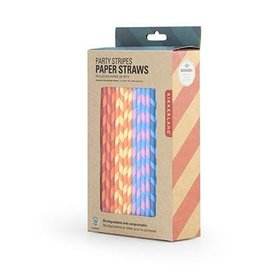 Kikkerland Paper straws color stripes