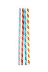 Kikkerland Kikkerland Paper straws color stripes