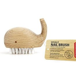 Kikkerland Whale wood nail brush