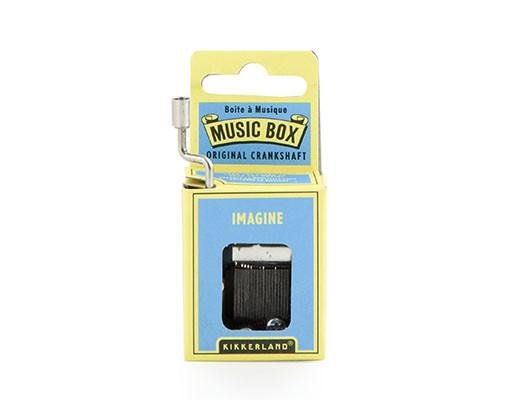Kikkerland Kikkerland Crankhand musical box Imagine