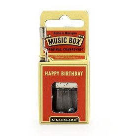 Kikkerland Crankhand musical box Happy birthday