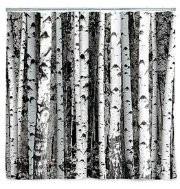 Kikkerland Shower curtain birch