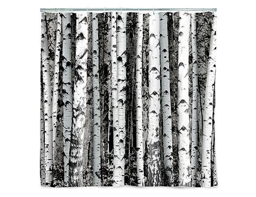 Kikkerland Kikkerland Shower curtain birch