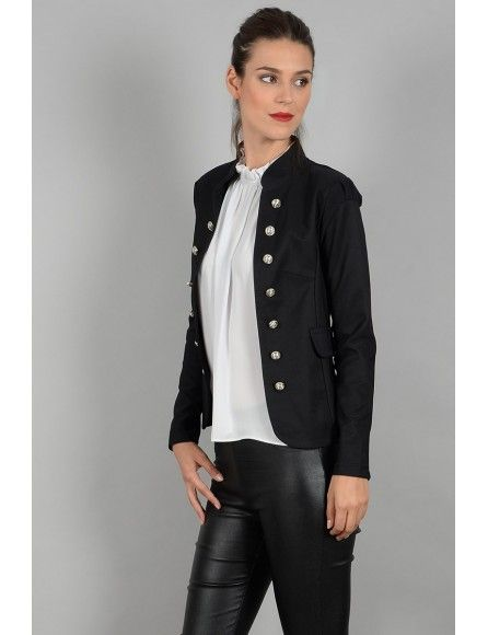Molly Bracken Molly Bracken Ladies woven jacket Black