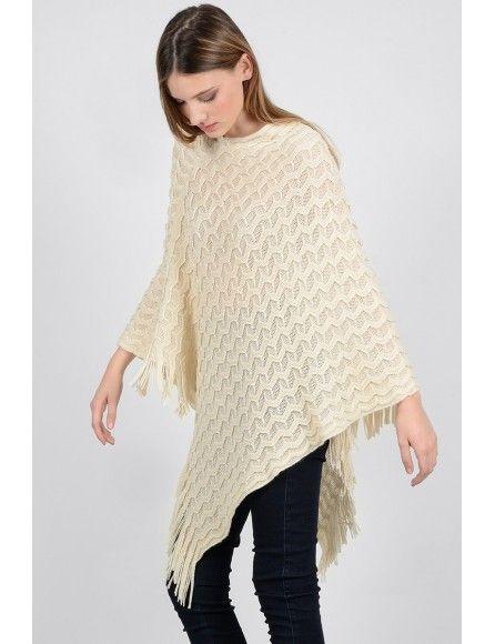 Molly Bracken Molly Bracken Ladies knitted poncho
