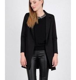 Molly Bracken Ladies woven coat Black