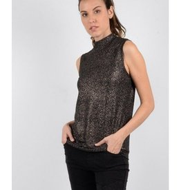 Molly Bracken Ladies woven tank top Dark grey