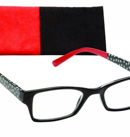 ICU Reading Glasses Black & Red
