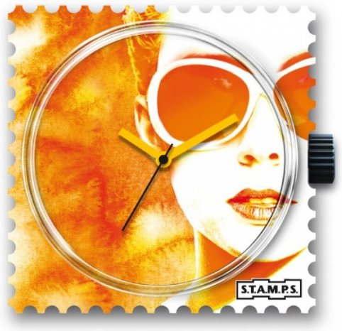 S.T.A.M.P.S. Stamps Watch Lady orange
