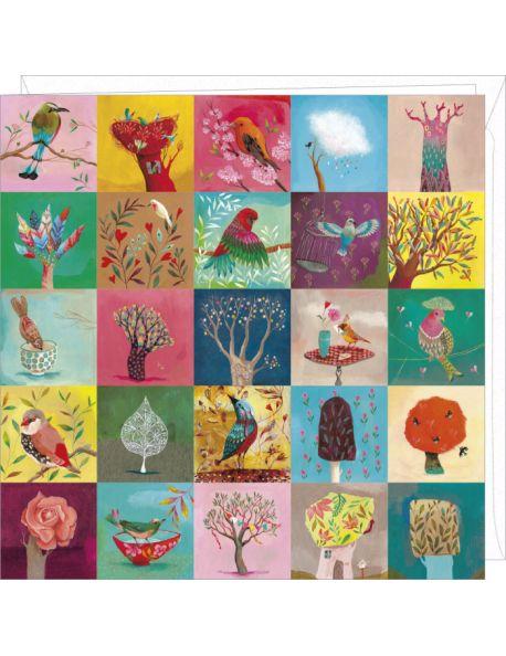 Correspondances Izou Carte double Birds and Trees
