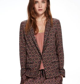 Maison Scotch Blazer drapé style pyjama