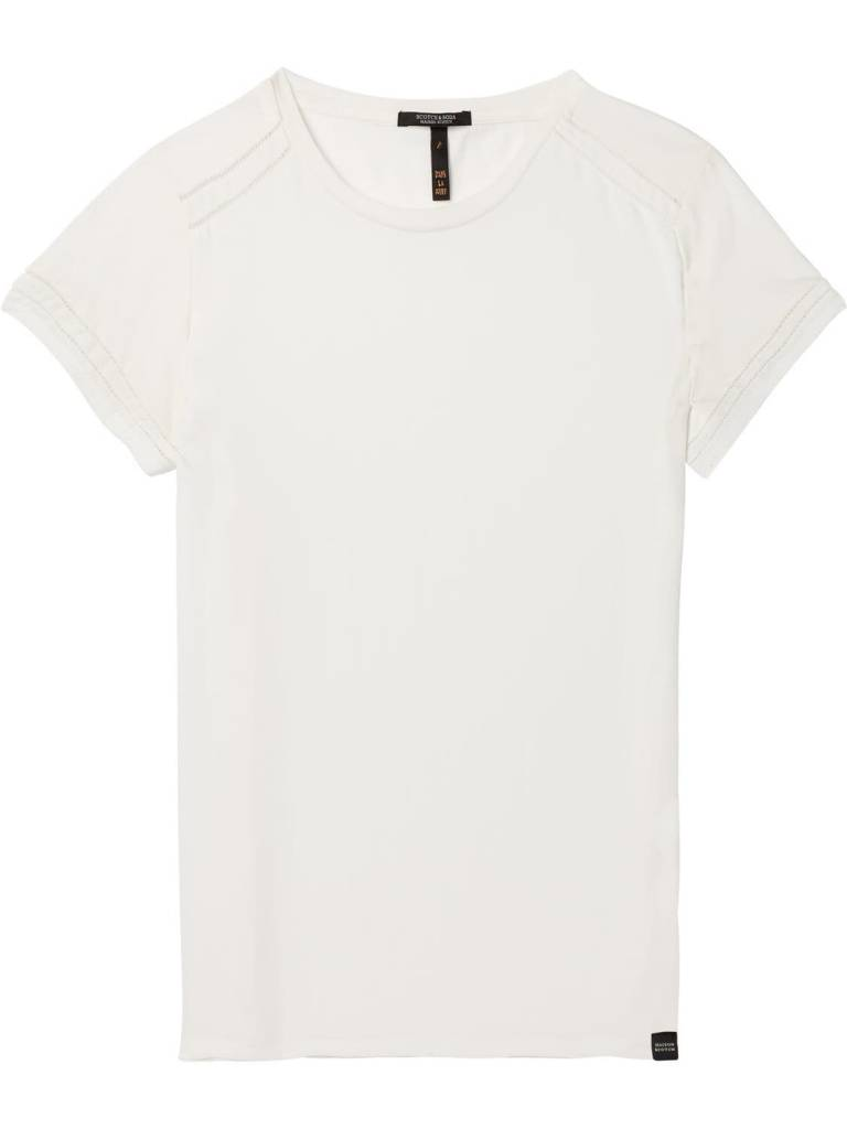 Maison Scotch Maison Scotch T-shirt avec galons à points d'échelle