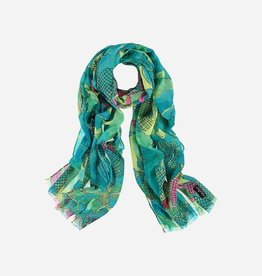 Fraas Pure polyester stole with flower print