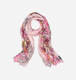 Fraas Étole avec imprimé floral en polyester pur