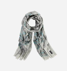 Fraas Scarf with flower print in pure cotton