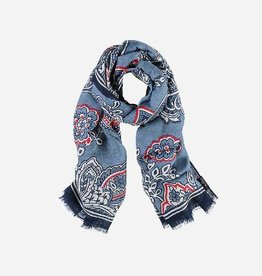 Fraas Linen-blend stole with paisley print