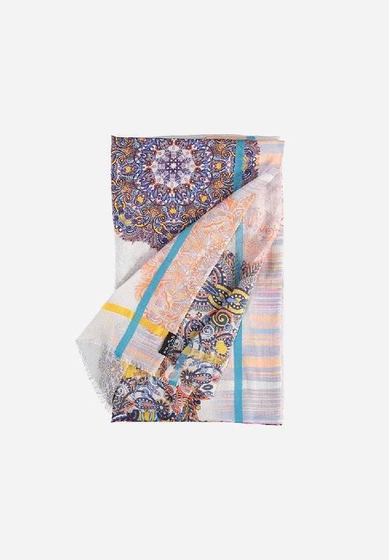 Fraas Fraas Modal-blend stole in grafik print