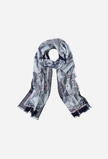 Fraas Fraas Scarf with pattern in pure cotton