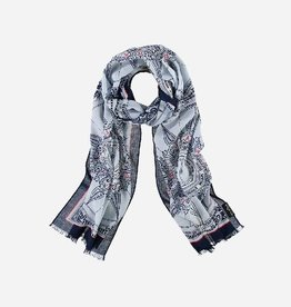 Fraas Scarf with pattern in pure cotton