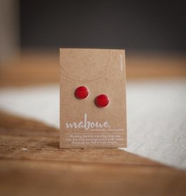 Maboue Red porcelain studs