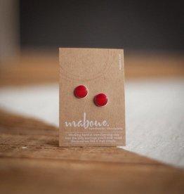 Maboue Studs en porcelaine rouge