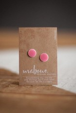 Maboue Maboue Coral porcelain studs