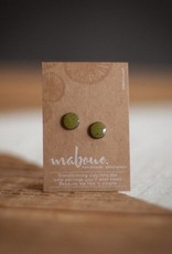 Maboue Maboue Olive green stoneware studs