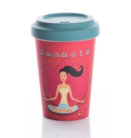 ChicMic Tasse en bambou Yoga love