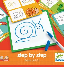 Djeco DJ08319 Eduludo / Step by step animaux