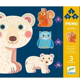 Djeco Primo puzzle / Dans la forêt / 9-12-16 pcs