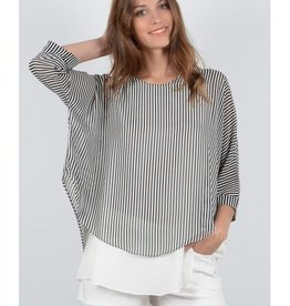 Molly Bracken S3367E18 Ladies woven tunic