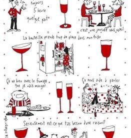 Saboothroyd Linge à vaisselle - Vin