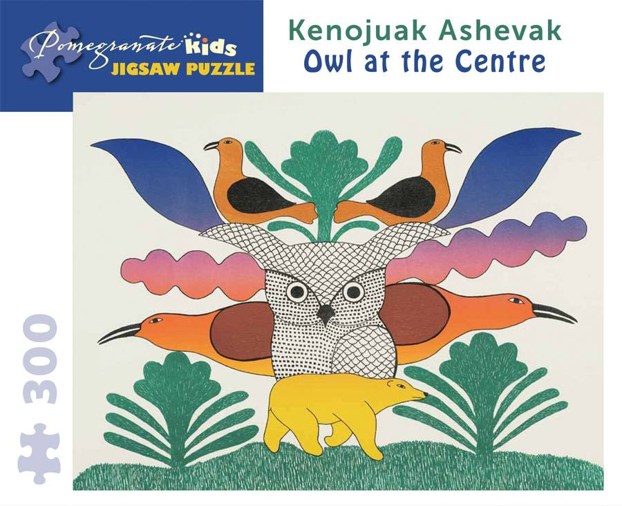 JK018 Kenojuak Ashevak - Owl at the centre