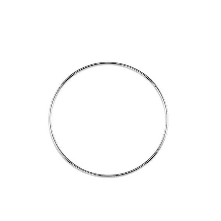 10k White Gold Hoop Earrings 40mm 1mm Width Minichiello Jewellers