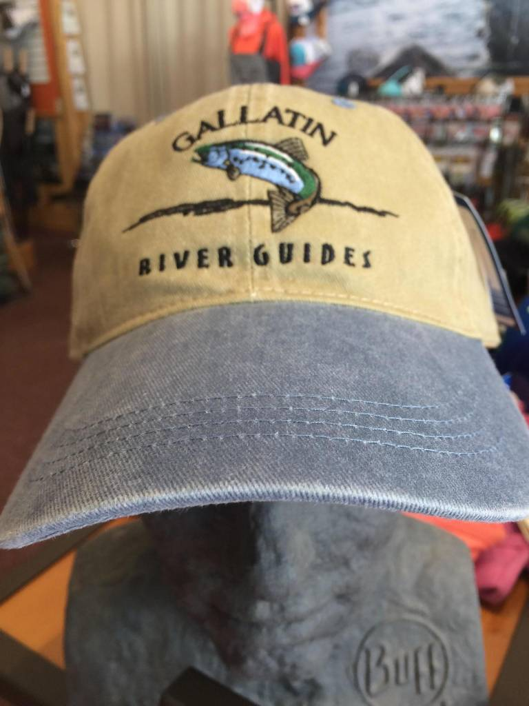 Ouray sportswear grg canyon cap vintage logo big sky for Long bill fishing hat