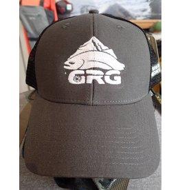 Ouray Sportswear GRG Fish Logo- Industrial Canvas Mesh Cap Grey/Black