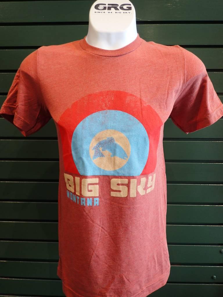 Ouray Sportswear Ouray Tri Blend Short Sleeve T-Shirt BIG SKY, MONTANA