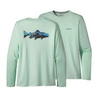 Patagonia Patagonia M's Graphic Tech Fish Tee Painted Fitz Roy Trout: Lite Distilled XXL