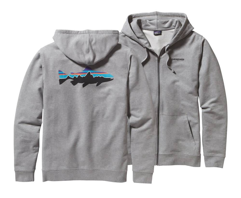 Patagonia Patagonia M's Fitz Roy Trout MW Full-Zip Hooded Feather Grey Large