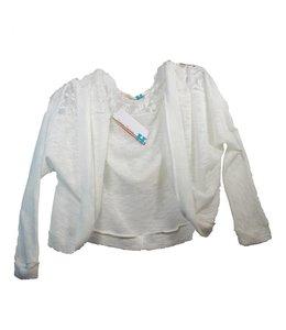 Vintage Havana Tweens Vintage Havana Lace Hooded Kimono White