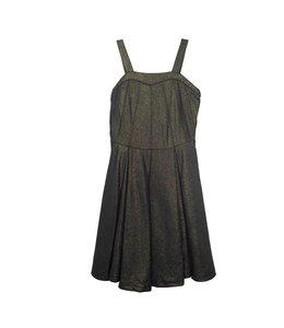 Elisa B Elisa B Girls Texture Knit Dress Navy & Gold